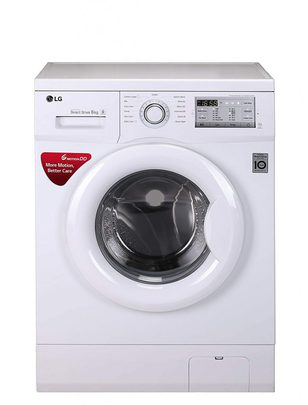LG Fully-Automatic Front Loading Washing Machine 6 kg Inverter (FH0FANDNL02, White)