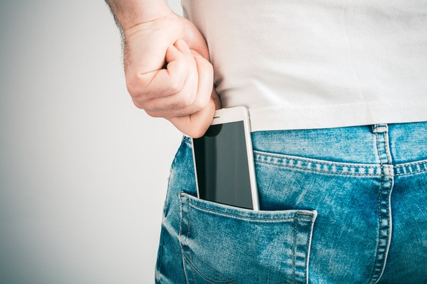 Smartphone in back pocket