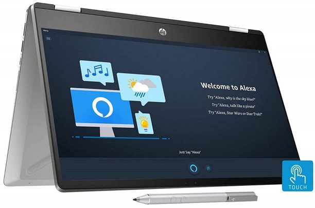 HP Pavilion x360 14-dh1006TU 14-inch HD Touchscreen 2-in-1 Alexa Enabled Laptop