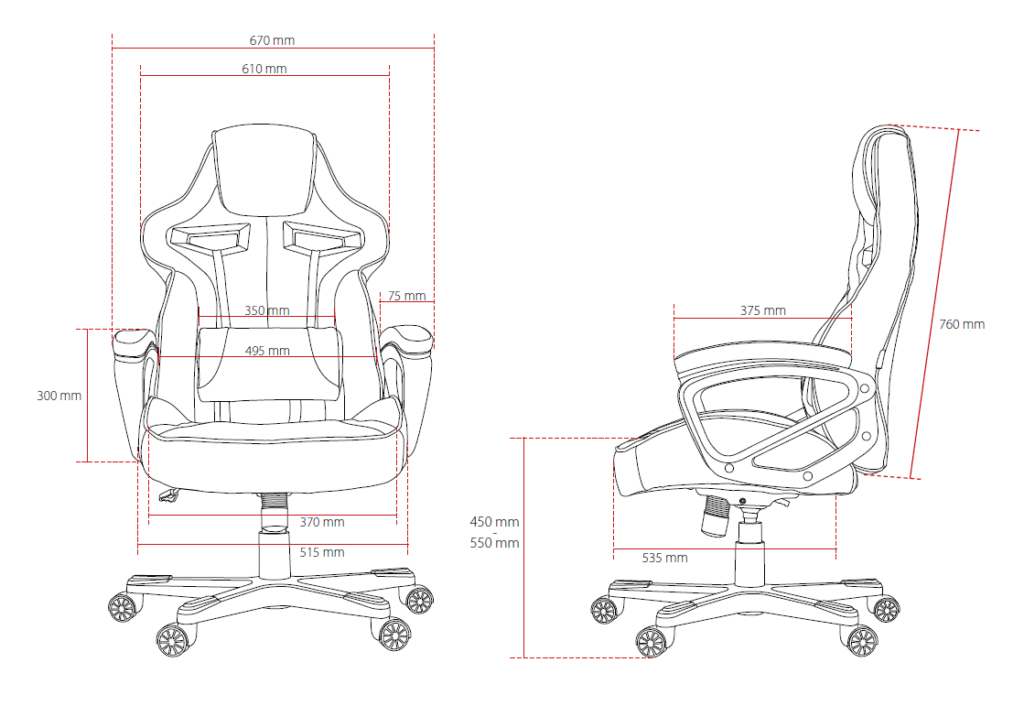 Gaming-chair-dimensions