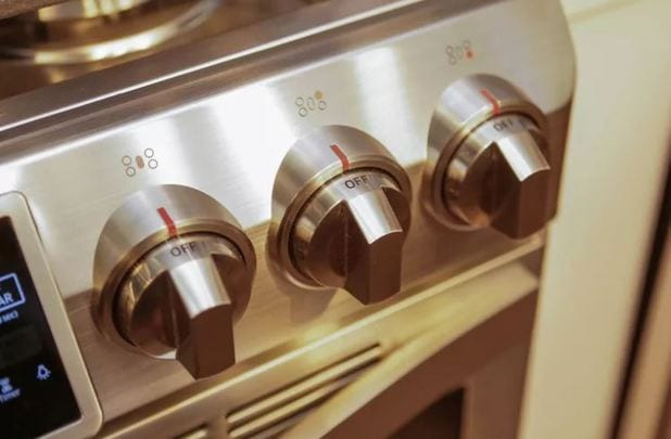 controlling knobs of kitchen hobs