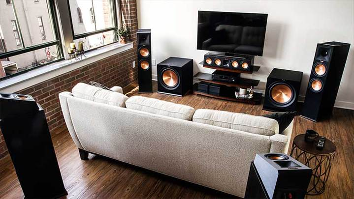 home theatre system in living room